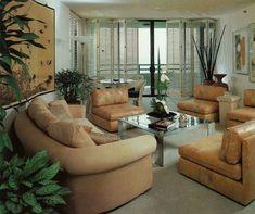 Interior Design and Architecture - Beth Franks 1988 80s Interior Design, 1980s Interior, Classic Interior, 80s Design, French Interior, Design Ideas, 70s Home Decor, Art Deco, Lounge