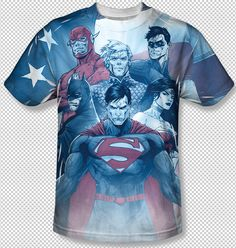 Justice League Of America United DC All Over Front Sublimation Youth T-shirt Top Official DC Comics Licensed Sublimation Front Print Youth Justice League T-shirt #DCComics #DCOriginals #Batman #Superman #TheFlash #GreenLantern #Aquaman #VintageComics #JusticeLeague #WonderWoman