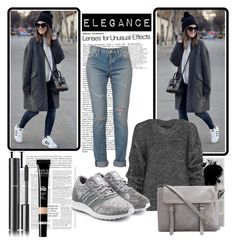 """""""Untitled #8"""" by erina-salkic ❤ liked on Polyvore featuring Yves Saint Laurent, Belstaff, adidas Originals, Chanel, Sweater, bag, gray and woman"""