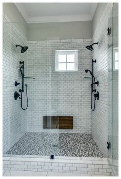27 Beautiful Farmhouse Master Bathroom Decor Ideas And Remodel. If you are looking for Farmhouse Master Bathroom Decor Ideas And Remodel, You come to the right place. Here are the Farmhouse Master Ba. Diy Bathroom Remodel, Shower Remodel, Bathroom Renovations, Restroom Remodel, Dyi Bathroom, Master Bathroom Shower, Restroom Ideas, Shower Rooms, Minimal Bathroom