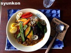 【簡単!!】フライパン1つで*夏野菜とひき肉のカレー | 山本ゆりオフィシャルブログ「含み笑いのカフェごはん『syunkon』」Powered by Ameba