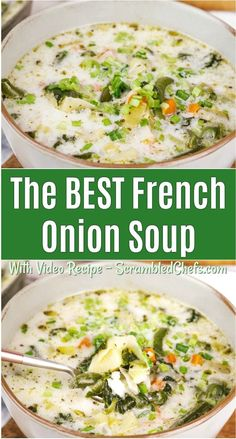 This rich cream based French onion soup is a unique twist on a classic. Loaded with vegetables and flavor, you will fall in love! Lunch Recipes, Easy Dinner Recipes, Soup Recipes, Healthy Recipes, Dinner Ideas, Blender Recipes, Meal Ideas, Yummy Recipes, James Martin