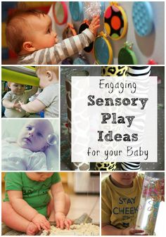 Simple and engaging sensory play ideas for babies Baby Sensory Play, Sensory Bins, Sensory Activities, Craft Activities For Kids, Baby Play, Infant Activities, Baby Kids, Baby Activites, Infant Sensory