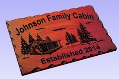 Personalized Custom Carved Wood Sign - Routed Redwood Rustic Plaque Home Decor #Handmade #RusticPrimitive