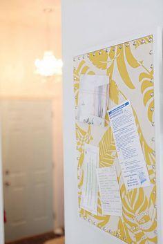 fabric covered cork board tutorial