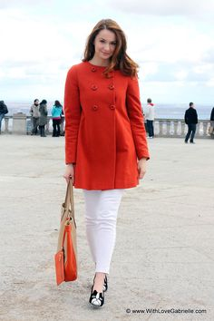 orange coat #zara #orange