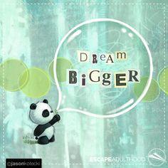 Dream Bigger by Jason Kotecki. #TinkerProject #panda #art #painting #dreambig
