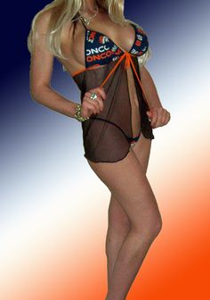 NFL Denver Broncos Lingerie Negligee Babydoll Sexy by SexyCrushes, $36.00