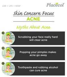 Myths about acne. #SkinConcernFocus #FreshSkin #FreshSkinAdvice #Acne