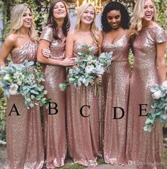 Sorella Vita Rose Gold Blush Sequins Country Bridesmaid Dresses 2018 Modest Custom Make Plus Size Maid of Honor Wedding Guest Gowns Mermaid Wedding Dress Rose Gold Sequin Dress Country Bridesmaid Dress Online with $59.43/Piece on Kazte's Store | DHgate.com