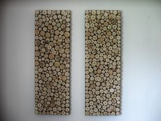 Rustic Wood Art Sculpture - Set of Two 12x36 Inch Panels Made to Order. $345.60, via Etsy.