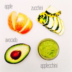 The Scoop  Apples are so versatile it could be added to almost any baby recipe including this mix! Have you heard apples are effective in reducing cough? Doesn't hurt to try.  Ingredients (serves two 4oz jars)  - 1/2 avocado, diced - 1/2 medium sized apple, peeled, cored, cubed - 1 small zucchini, sliced