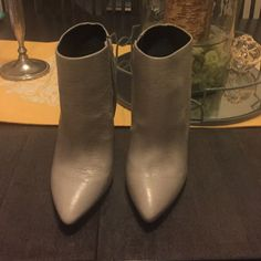 Light grey booties Never been worn ALDO Shoes Ankle Boots & Booties