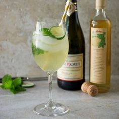 Hugo (pronounced oo-go):  made with Prosecco, seltzer, mint, lime and elderflower syrup--a very light and refreshing cocktail.