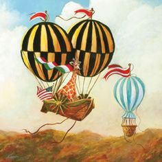 cute hot air balloon art -- rosenberry rooms