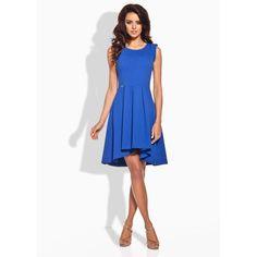 Classic Blue Dipped Hem Coctail Dress LAVELIQ