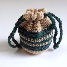 Dice Bag Guitar Pick Bag Coin Purse by SoftsideCrochet on Etsy