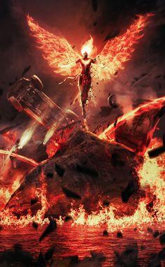 Ancient Phoenix Warrior (Mother of Fire EYE) Jean Grey Phoenix, Phoenix Art, Dark Phoenix, Dark Fantasy Art, Fantasy Girl, Fantasy Artwork, Marvel Comics Art, Marvel X, Captain Marvel