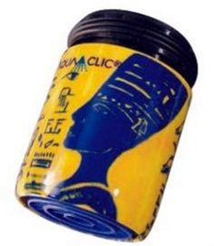 Ägyptisches Motiv in gelb und blau: Durchflussbegrenzer mit Konstanthaltung (5 Liter pro Minute) spart bis zu 50% Wasser und Energie.