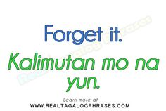 Learn how to speak Tagalog through commonly used Tagalog phrases. Tagalog Words, Filipino Words, Baybayin, Filipino Culture, Gifts For Campers, We Dont Talk, Language Lessons, English Language, Vocabulary