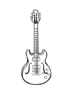 Electric Guitar Drawing Super Coloring Pages Guitar Drawing