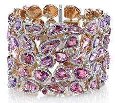 Omi Gems rose-cut unheated fancy sapphire bracelet