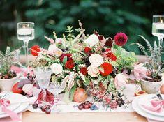 berry toned wedding - photo by Rebecca Hollis Photography http://ruffledblog.com/ferns-and-fruit-wedding-inspiration