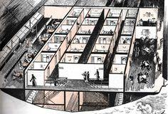 Hindenburg Airship Interior | Menu, deck plan and photo of cabin.