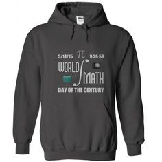 World Math Pi Day Of The Century - #gift bags #fathers gift. ORDER HERE => https://www.sunfrog.com/Geek-Tech/World-Math-Pi-Day-Of-The-Century-Charcoal-27507959-Hoodie.html?68278
