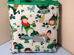 Leprechaun St Patrick's Day Fabric Gift Tote by HugsandHolidays