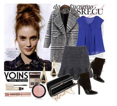 """Yoins Coat"" by diva1 ❤ liked on Polyvore featuring Charlotte Tilbury, By Terry, Urban Decay, 3.1 Phillip Lim, Forever 21, contest, gray, coat, yoins and yoinscollection"