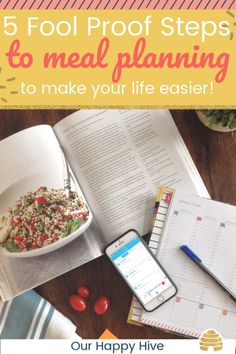 Meal planning provides many benefits that can save you time and simplify your life! Check out these 5 fool proof steps to Meal Planning for some practical tips! Easy Weeknight Dinners, Frugal Meals, Kids Meals, Saving Tips, Time Saving, Menu Planning, Mom Hacks, Life Hacks, The Fool