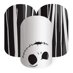 Christmas On Halloween | Disney Collection by Jamberry | Volume 4 | The Nightmare Before Christmas | Make a bold statement this holiday season with pinstripes and a ghostly silhouette.