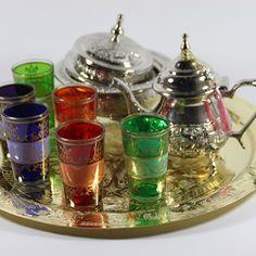 Orientalisches Teetablett Kupferfarbig
