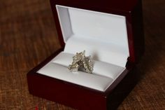 3.14 ct Excellent Marquise Natural Diamond Platinum plated 14K Gold ring GIA, K #SolitairewithAccents