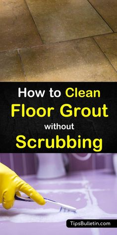 Cleaning the grout in your kitchens, bathrooms, and other tiled areas can be near-backbreaking work - unless you know the right tips and tricks! In this guide, you'll learn how to clean grouted tile w Cleaning Floor Grout, Floor Tile Grout, Grout Stain, Clean Tile Grout, Bathroom Cleaning, Cleaning Kitchen Floors, Cleaning Concrete Floors, Clean Bathroom Grout, Cleaning Ceramic Tiles