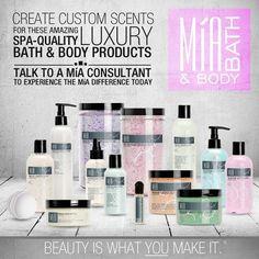 Mía Bath & Body... Natural SPA Products... https://www.facebook.com/MiaByDallyann
