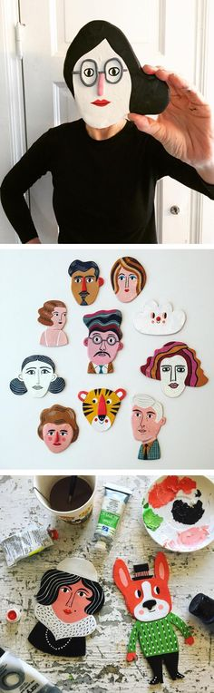 Clay figures by Ingela Arrhenius #clay #illustrationart #characterdesign