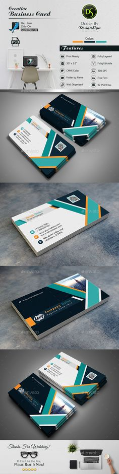 Business Card Template PSD. Download here: https://graphicriver.net/item/business-card/17475114?ref=ksioks