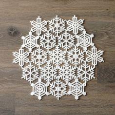 Winter snowflakes hama perler beads by helenearvikberg