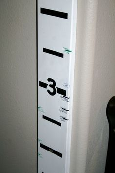 Moveable Measure Stick - can be moved from house to house, use different colors for each child!