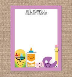 Personalized Teacher Notepad - School Supplies - Teacher Appreciation. $15.75, via Etsy.