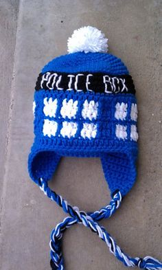Dr Who Tardis Hat Free Crochet Pattern