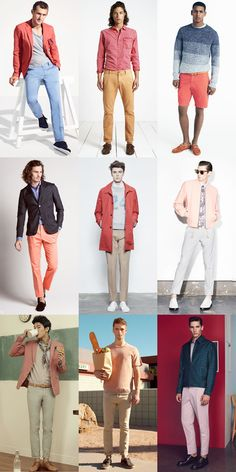 Trying Out Men's 2015 Spring/Summer Looks Now: Flamingo Shades of Peach or Pink Lookbook Inspiration