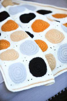 Crochet Baby Blanket Modern Colours Granny Square Pram Blanket £89.00