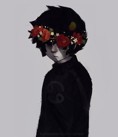 Karkat in a flower crown