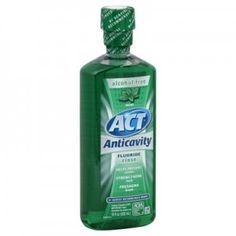 Act Anticavity Mouthwash - Mint. I've used this since I was a kid - that top is so unique, NO burning sensation and tastes amazing - plus it works like a charm. Only 2 cavities in my entire life (ALL post legal alcohol drinking age!)