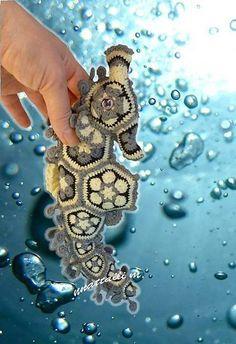 Shop for cheap DIY Crochet African Flower Seahorse Free Knitting Pattern - Crochet Craft, Crochet Animal