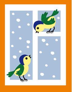Играем до школы: Пальчиковая живопись Птички на окошке