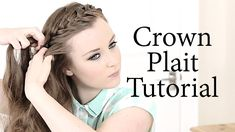 Hi guys? How are you all? Today I'm going to show you how to do a crown plait. Plaits and braids are everywhere this summer, they're really good for keeping ...
